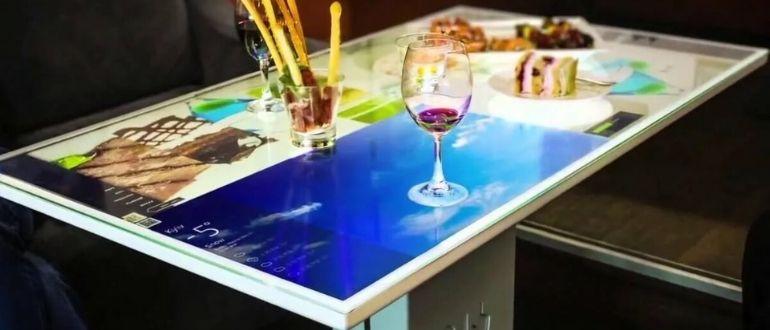 Сенсорный стол для бара или ресторана