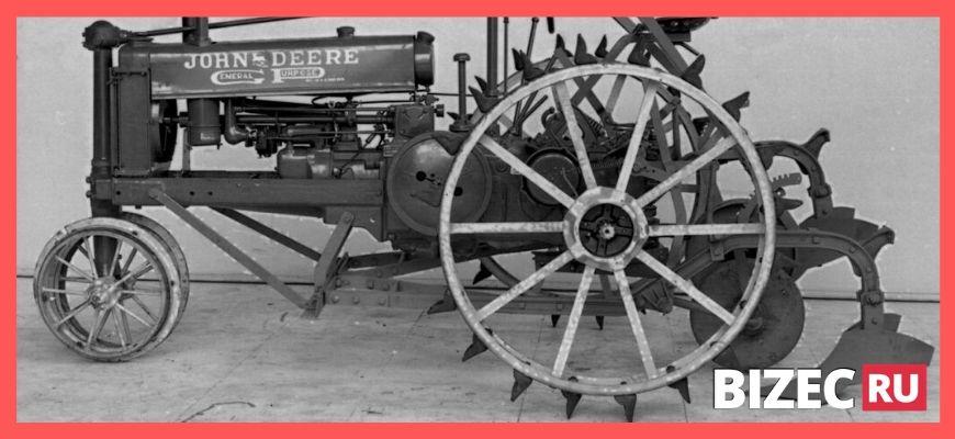 Первая механическая молотилка