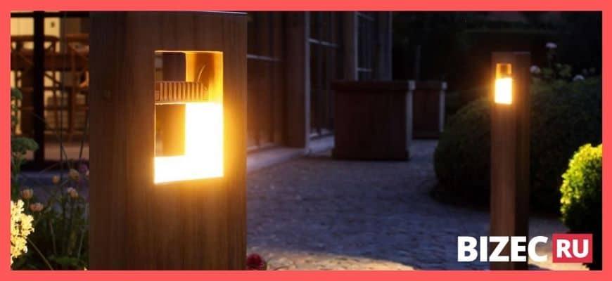 Уличные фонари в стиле эко