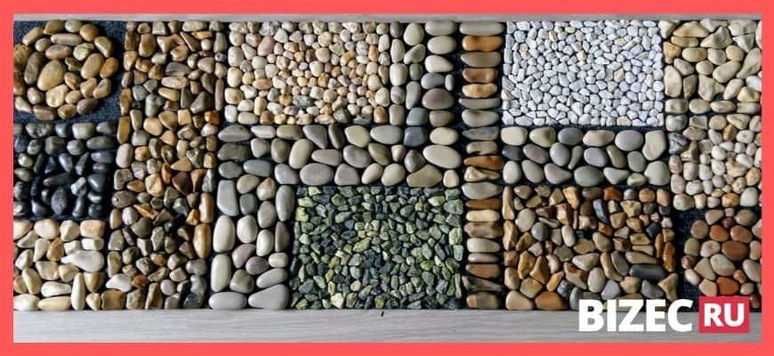 Каменные дорожки из мелкой гальки