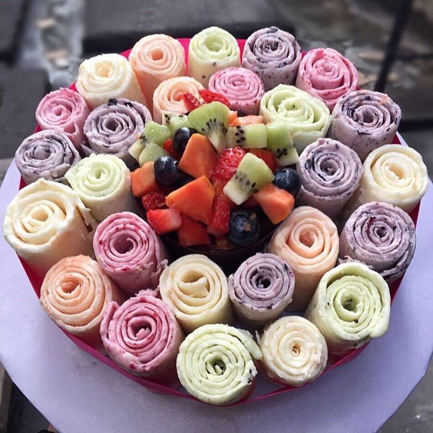 Мороженое в виде цветов